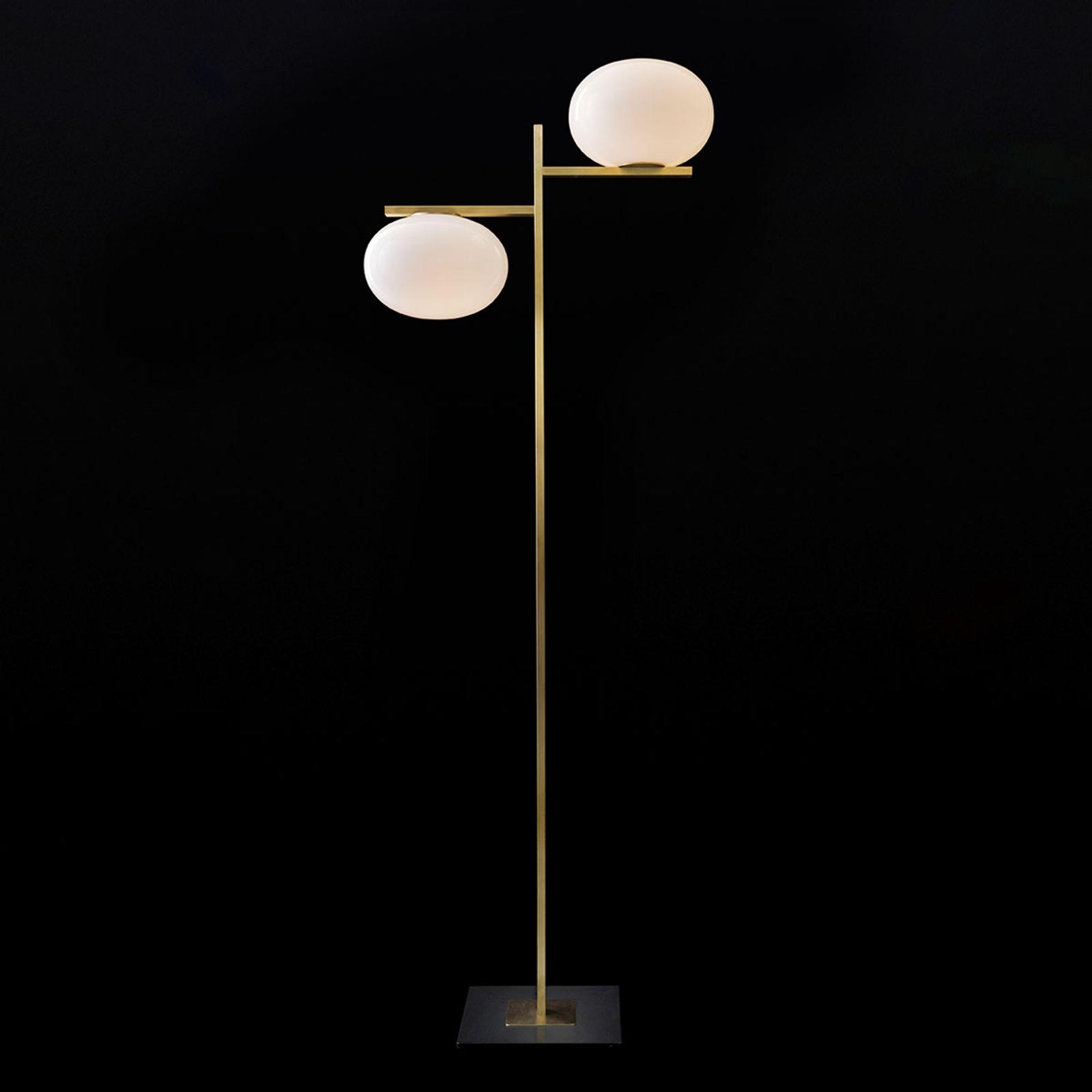 Oluce Alba - lampadaire à deux lampes dimmable