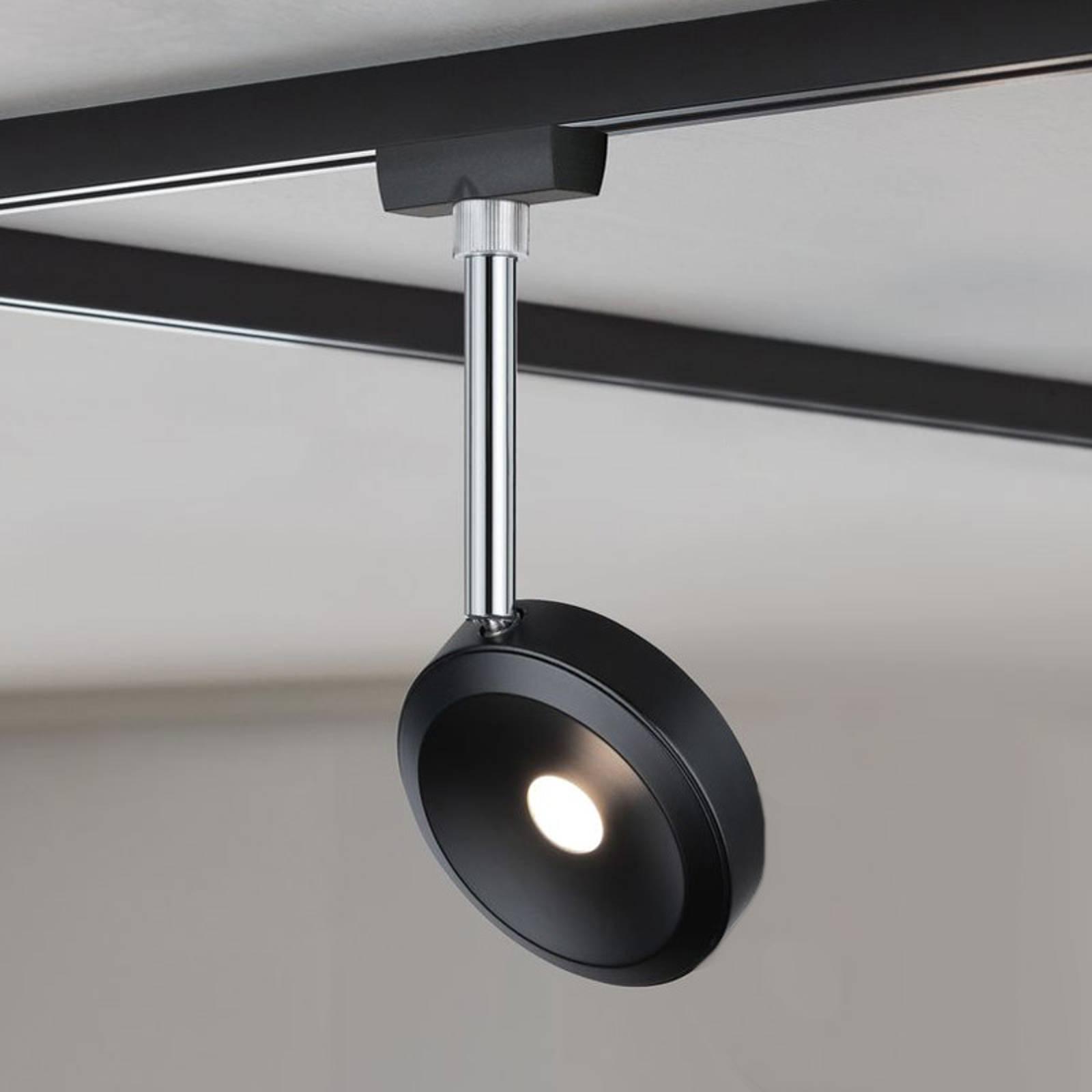 Paulmann URail LED spot Discus zwart, dimbaar
