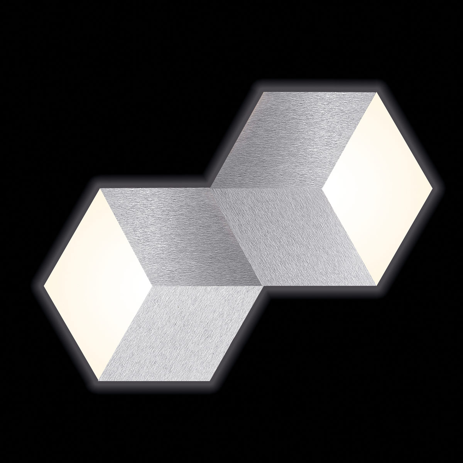 GROSSMANN Geo LED-Wandleuchte 2-flg.
