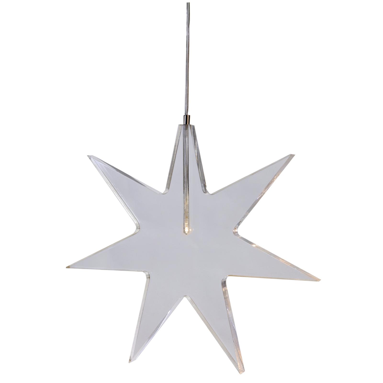 Průhledná LED hvězda - dekorativní lampa Karla