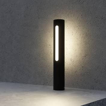Tomas – ciemnoszara lampa cokołowa LED