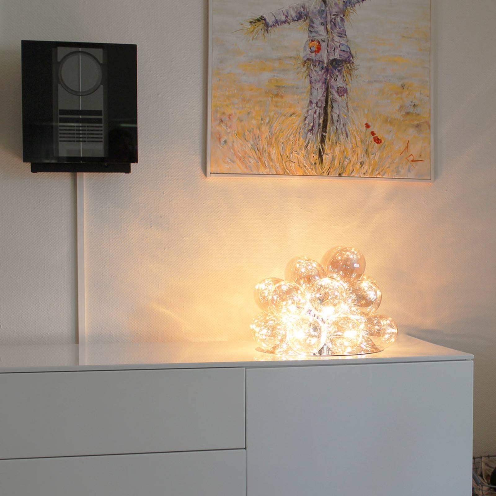By Rydéns Gross lampe à poser en verre ambre