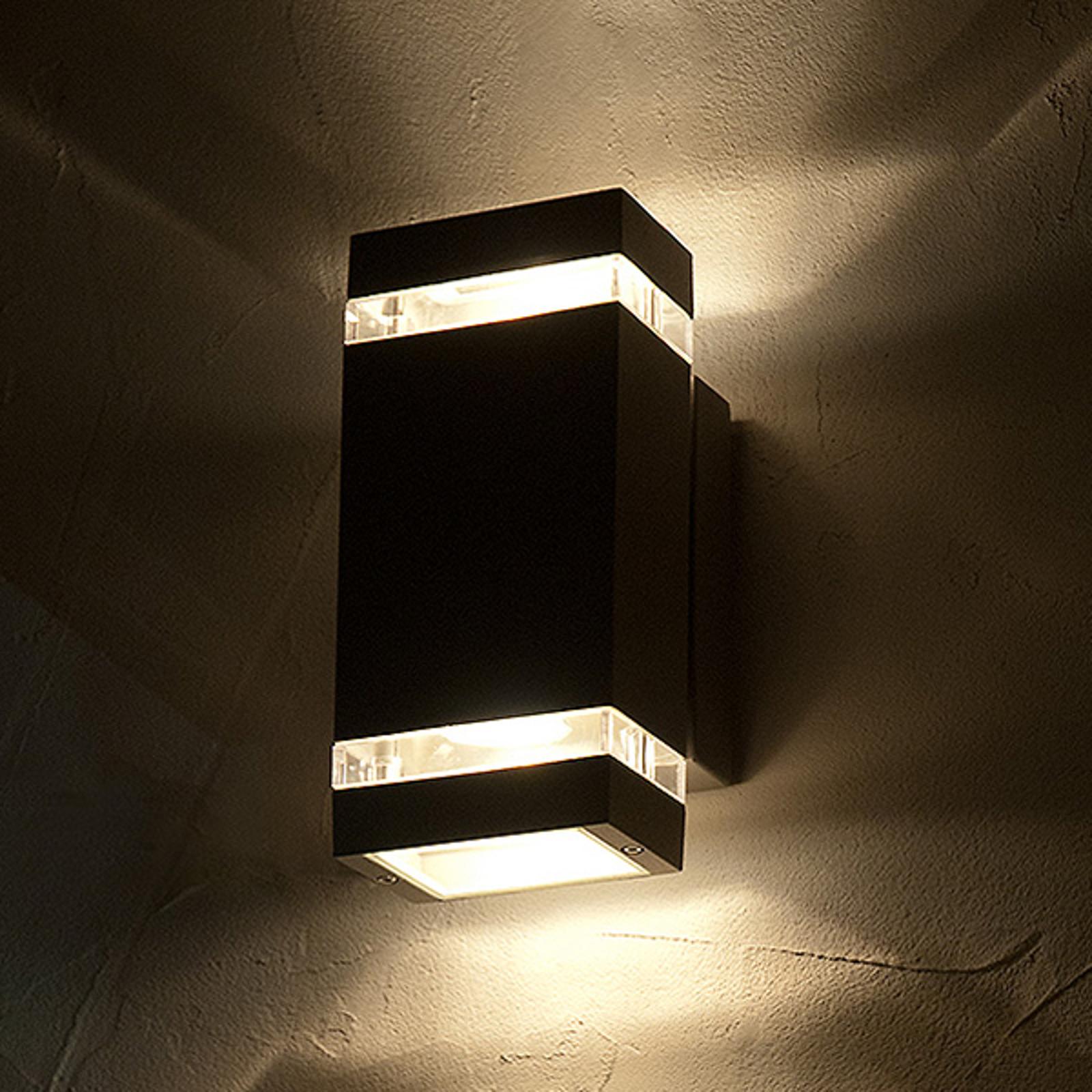 Venkovní nástěnné LED svítidlo Focus, hranaté, 2x