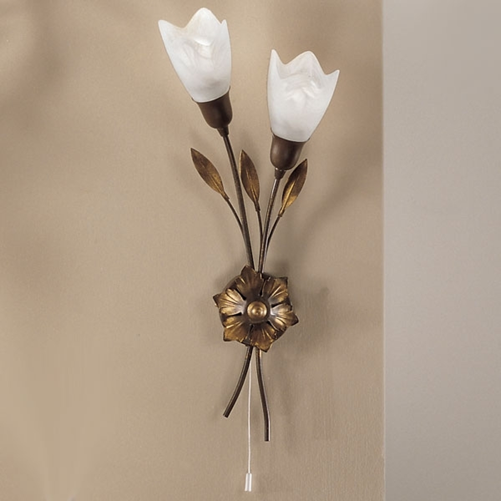 CAMPANA-vegglampe lang blomst venstre