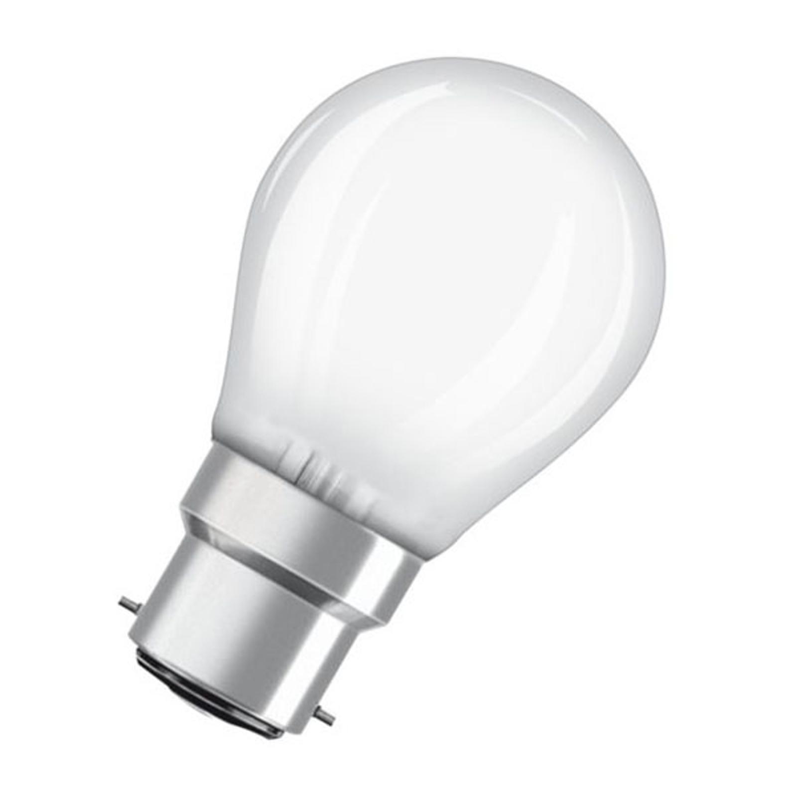 OSRAM LED-Tropfenlampe B22d 2,5W 2.700K matt