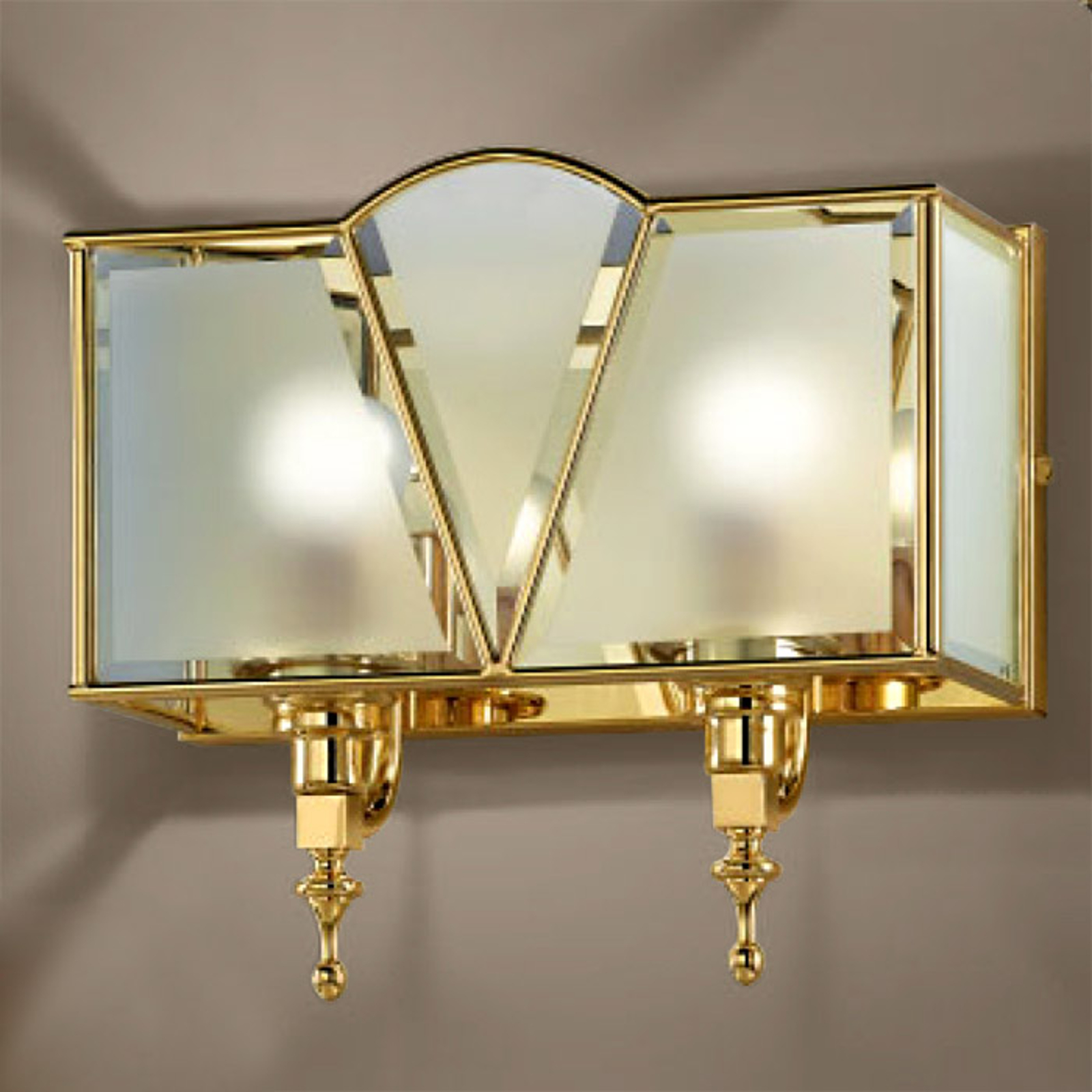 2-punktowa lampa ścienna Classic złota