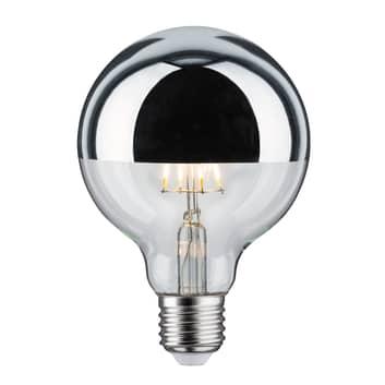 LED žárovka E27 G95 827 6,5W stmívací zrcadlená