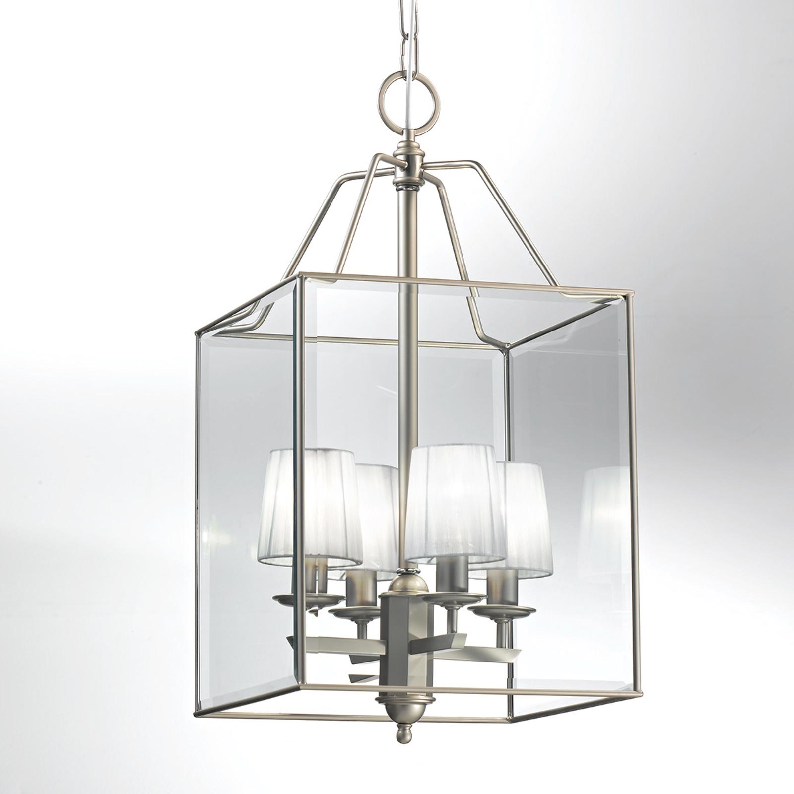 Lampada a sospensione Lampione, nichel