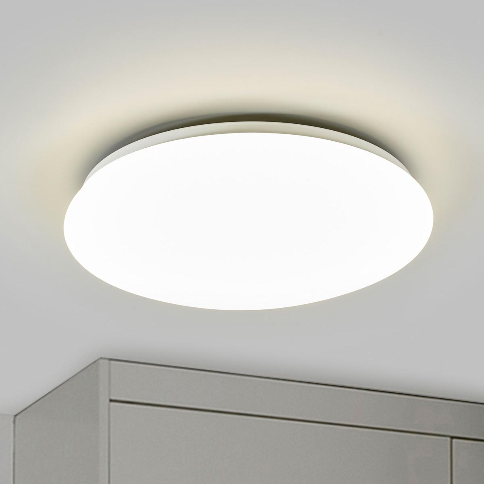 Biała lampa sufitowa LED SUEDE