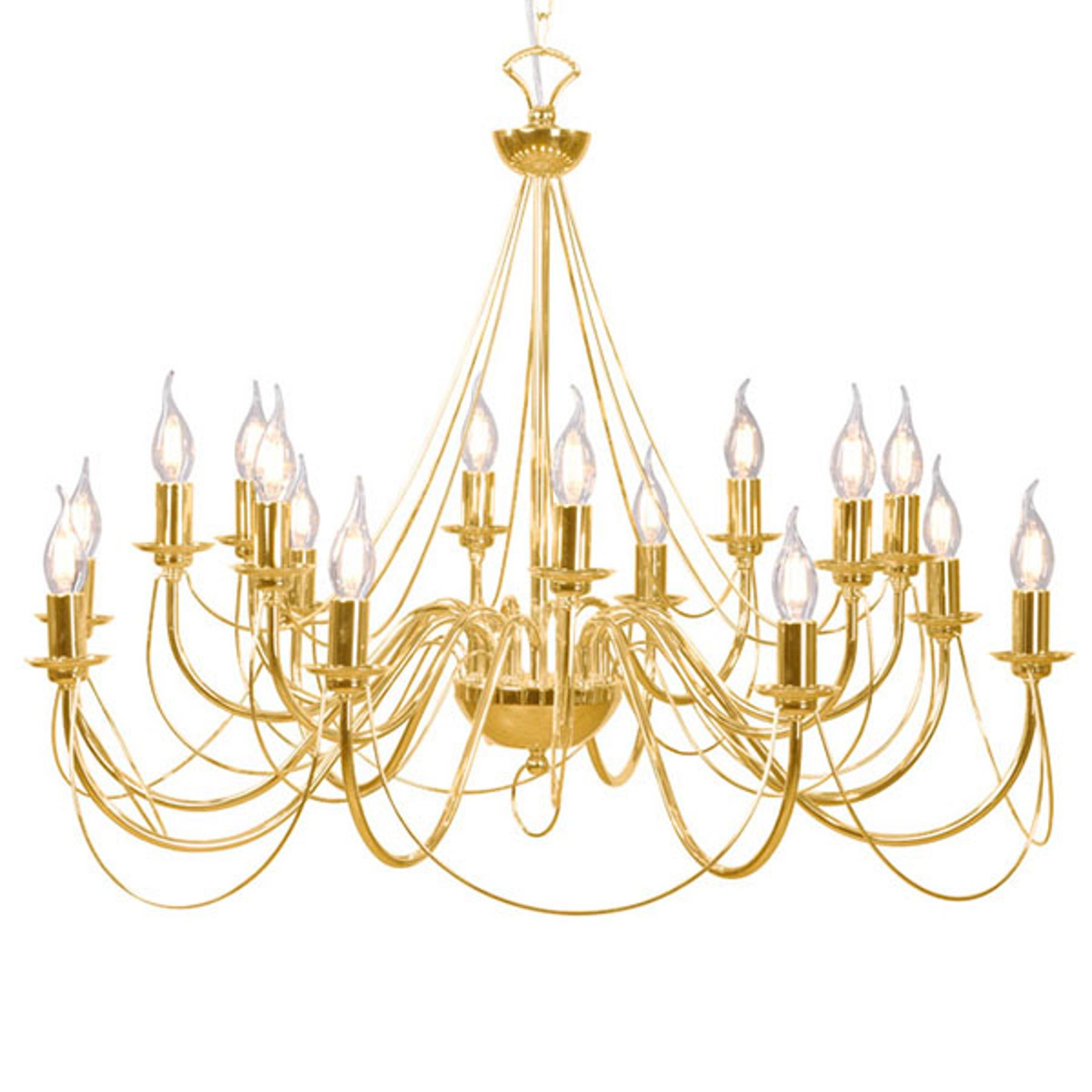 Lustre Retro, à 16 lampes, doré