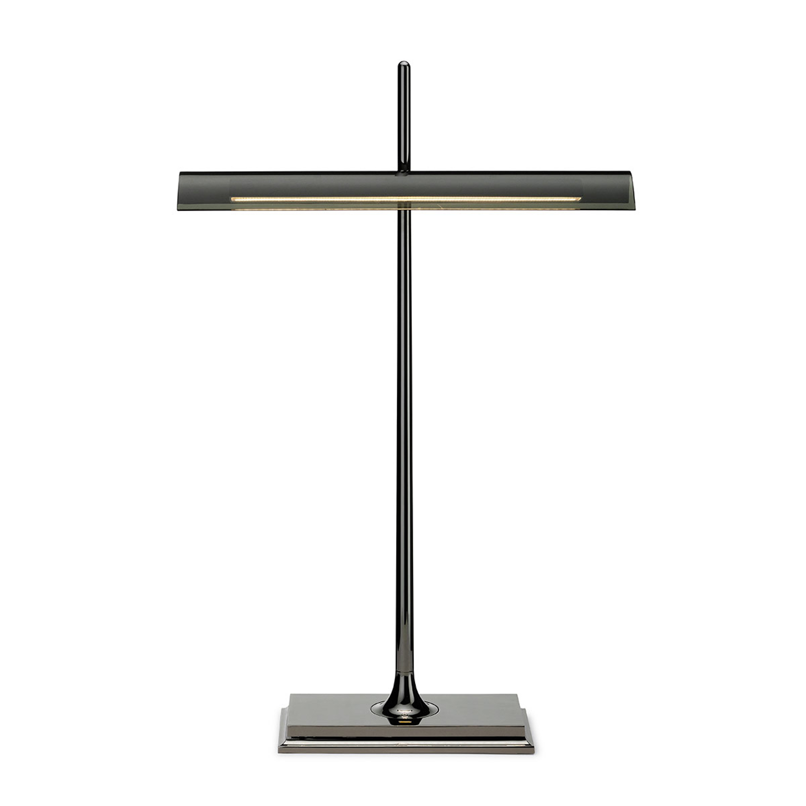 FLOS Goldman - stolní lampa s USB, kouřově šedá