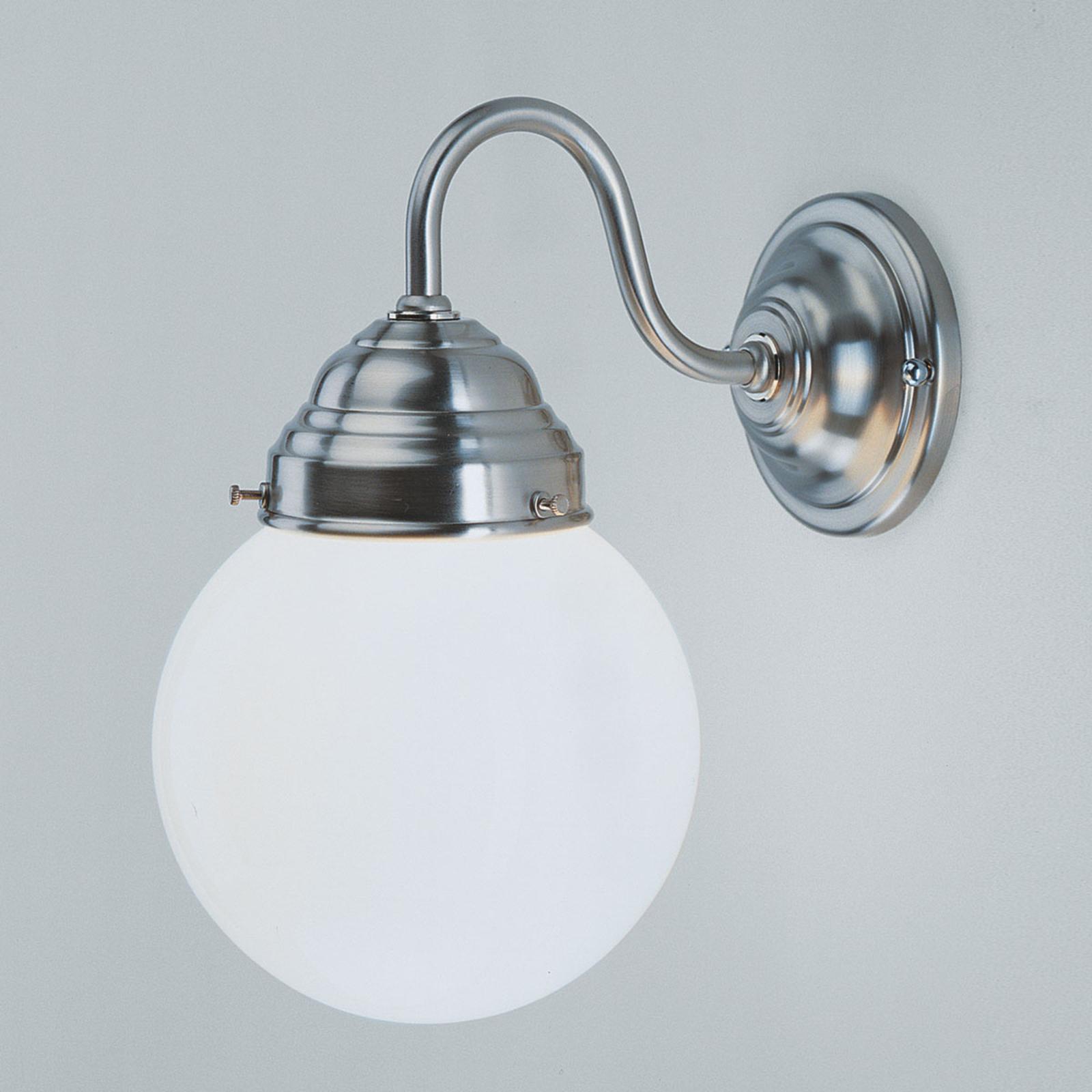 Vegglampe Larry, nikkel matt