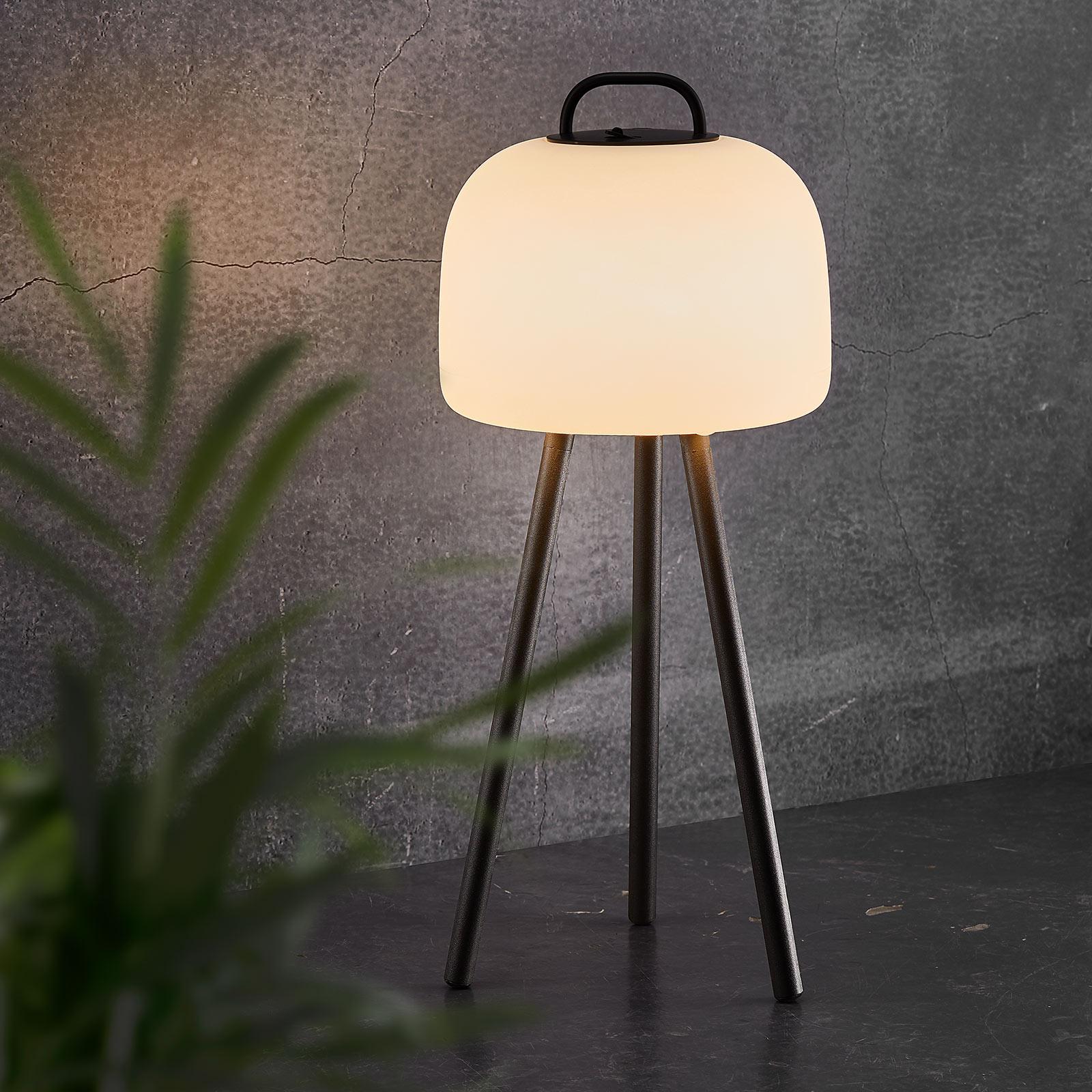 LED-Tischleuchte Kettle Tripod Metall, Schirm 22cm