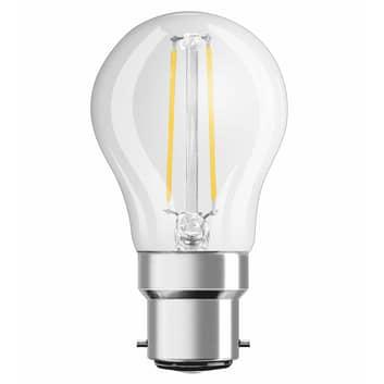 Bombilla de gota LED Filamento B22 2,5W 827