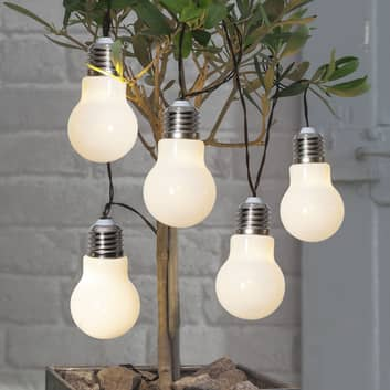 Cadena de luces LED Glow, batería, blanco