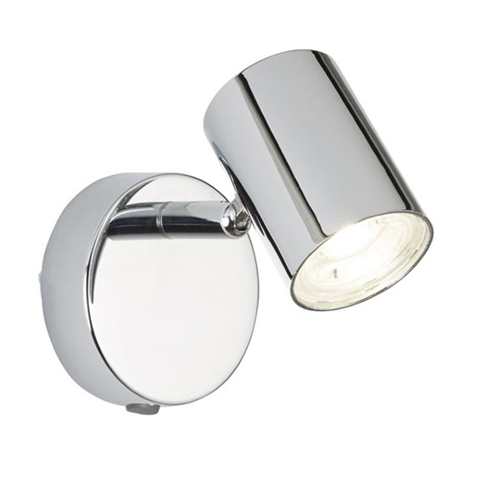 LED-veggspot Rollo, krom med bryter