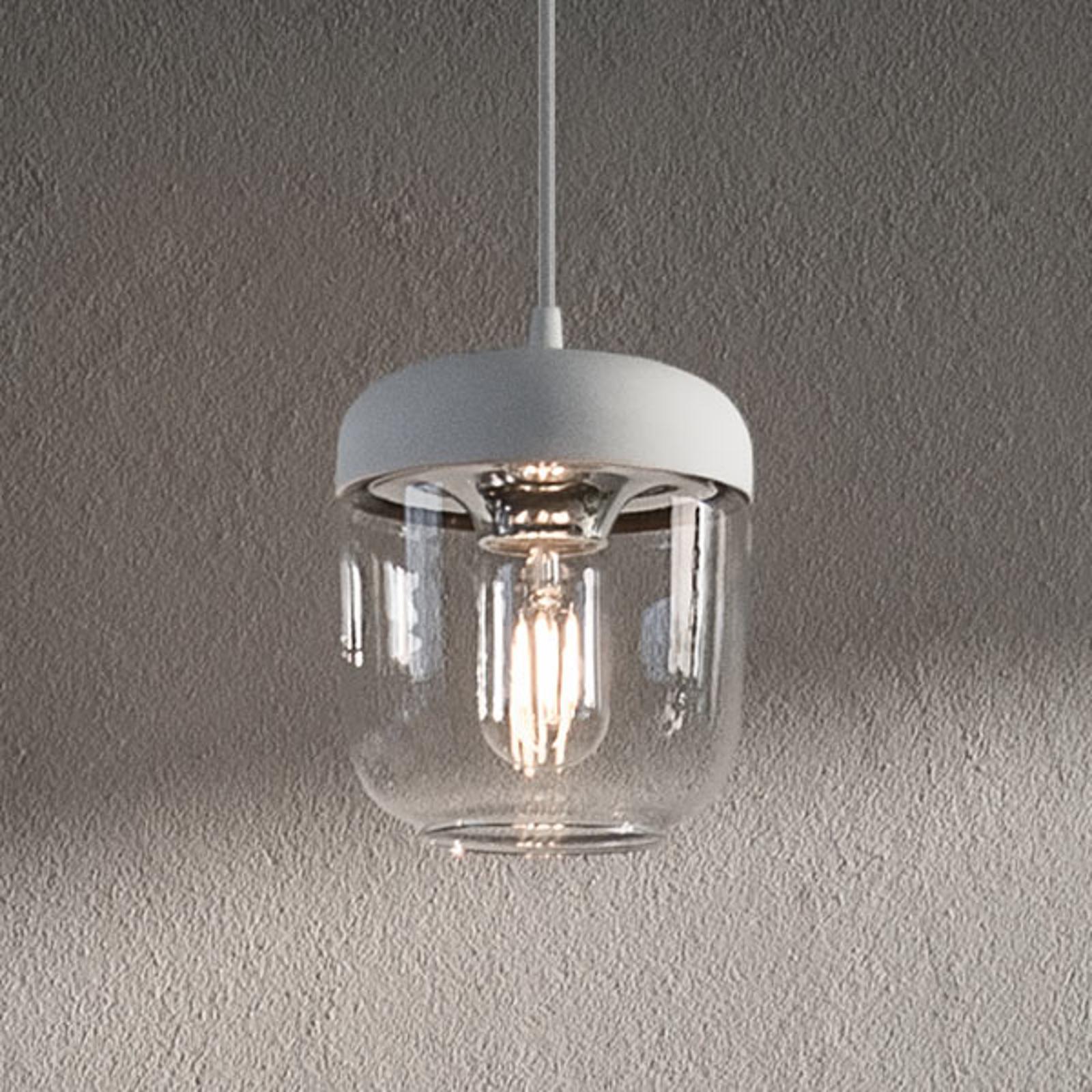 UMAGE Acorn -riippuvalo valk./teräs, 1-lamppuinen