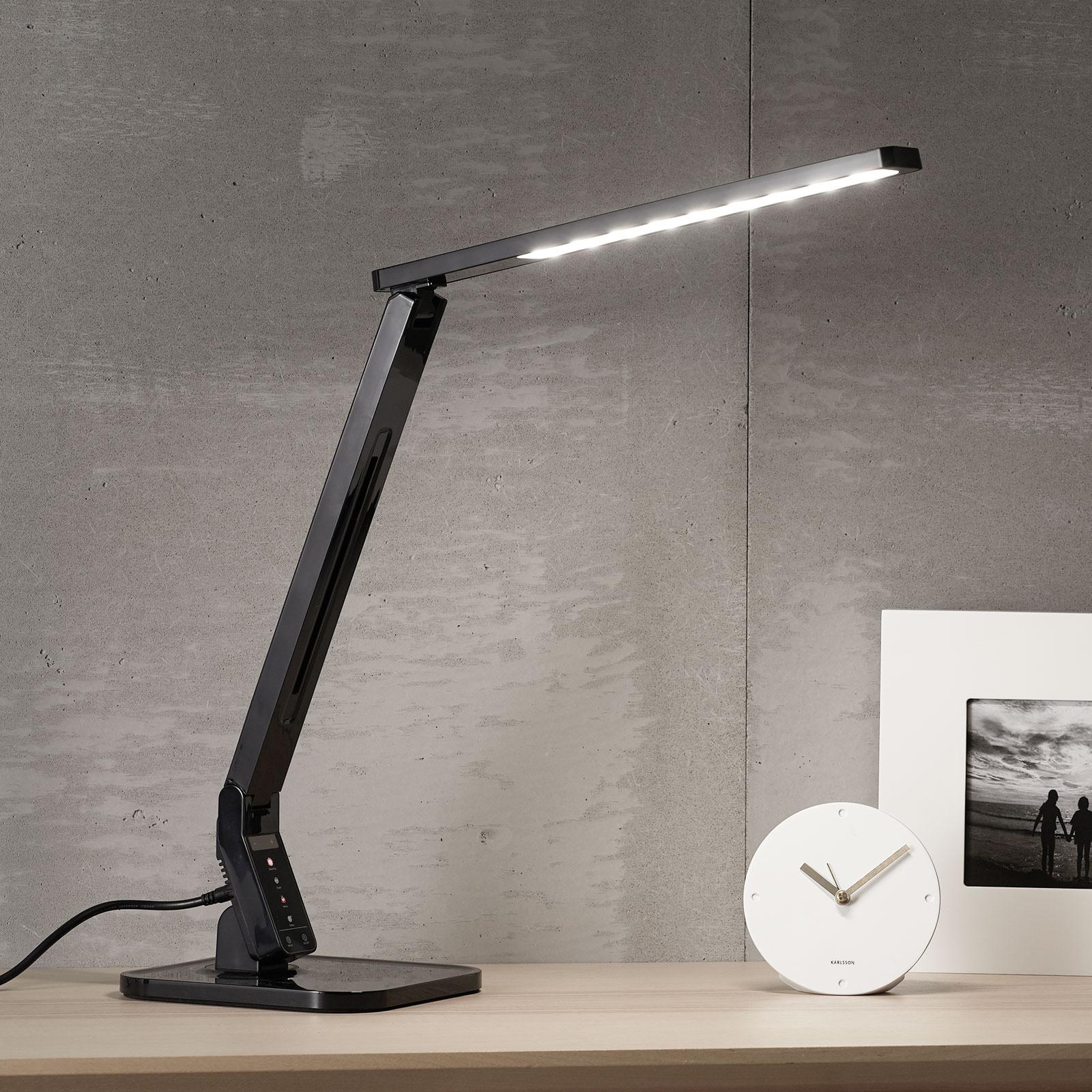 Černá stolní lampa LED Eleni
