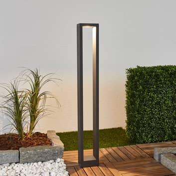 Firkantet LED-pullertlampe Jupp, 90 cm