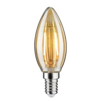 LED-kronljuslampa E14 4,7W 2 500 K guld dimbar