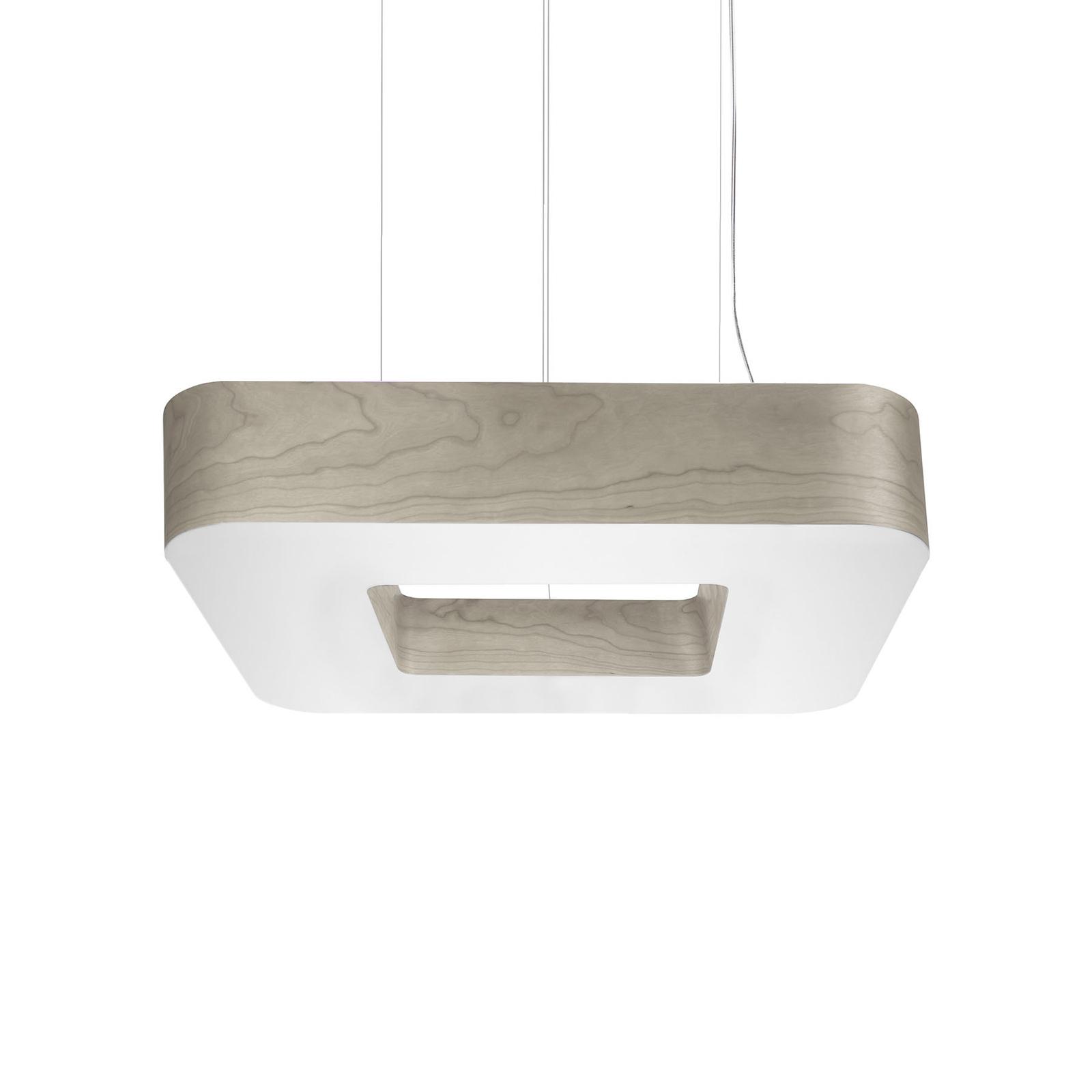 LZF Cuad LED-Hängeleuchte 0-10V dim, grau