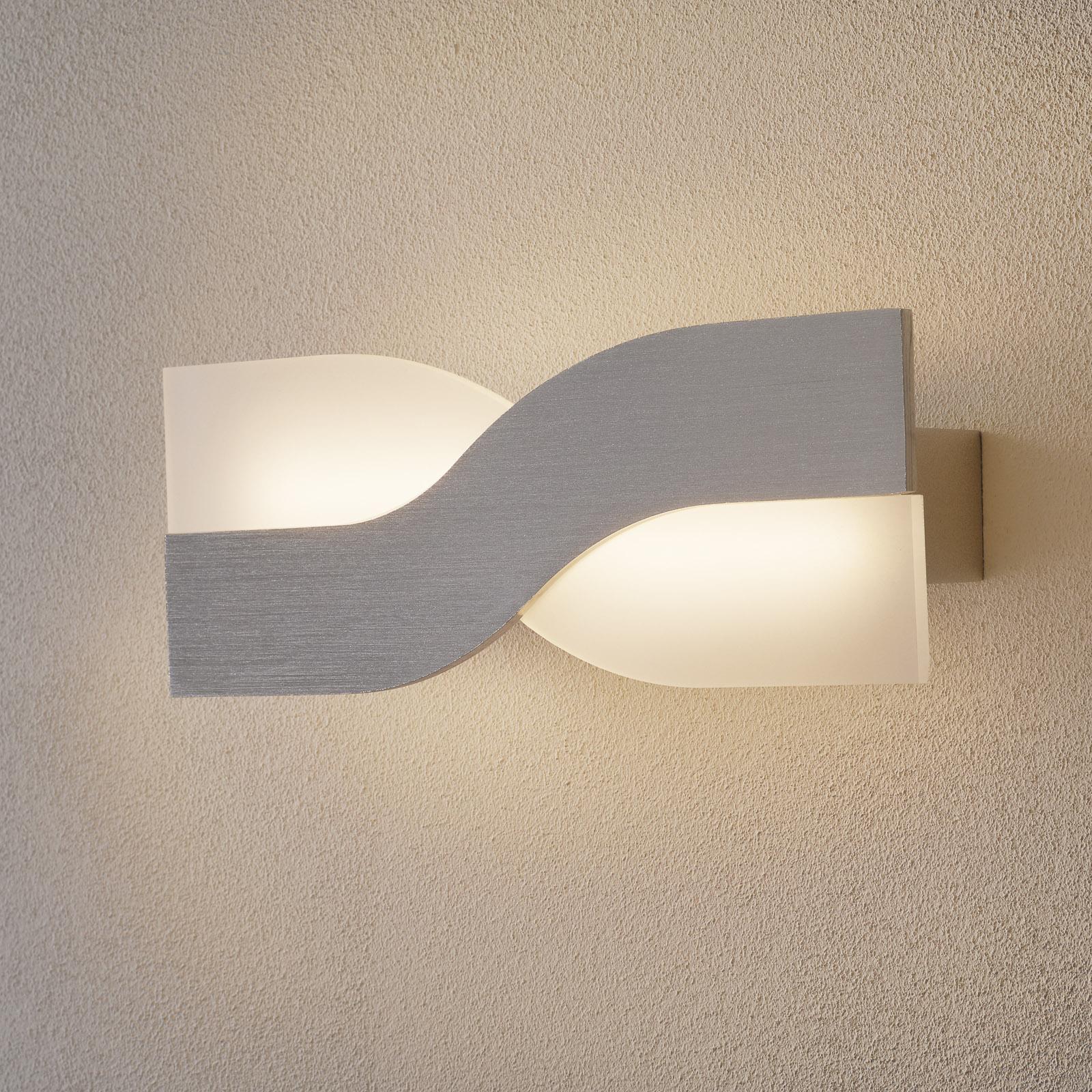 LED-seinävalaisin Riace 30 cm alumiini