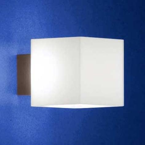 Væglampe CUBE med blændingsbeskyttelse