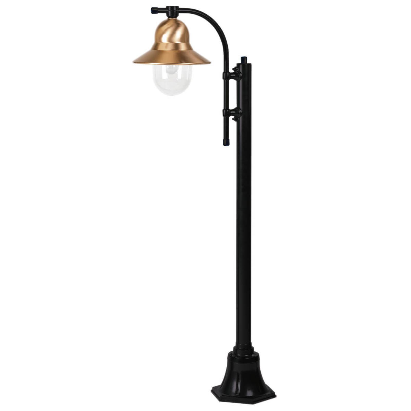 Toscane-lyhtypylväs yksilamppuinen 150 cm, musta