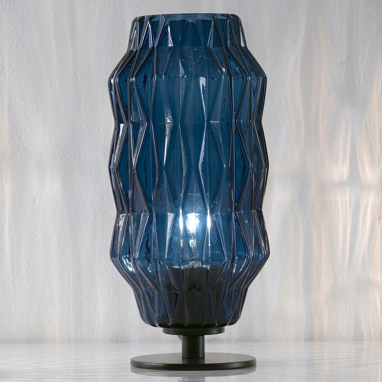 Origami - lampe à poser bleue