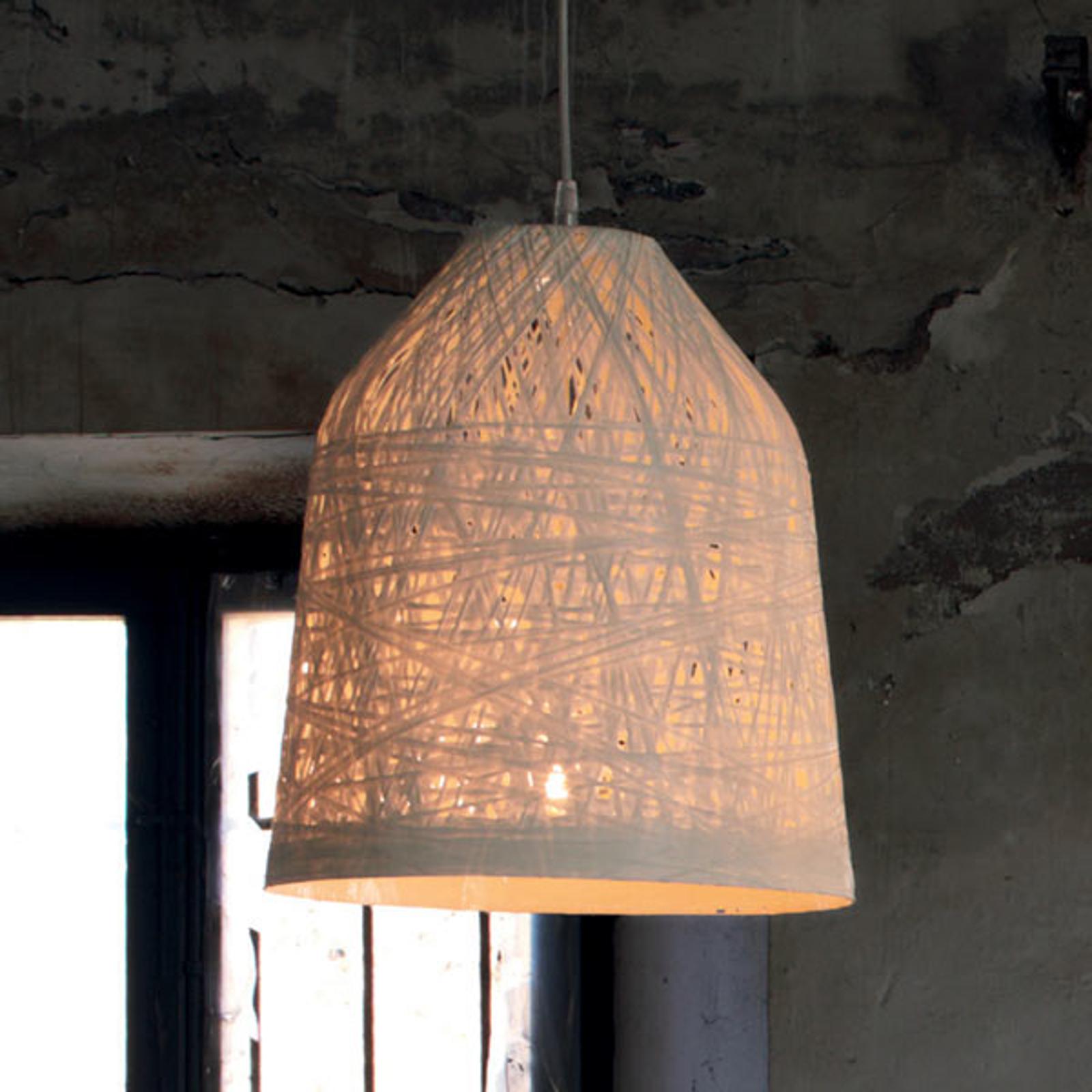 Biała designerska lampa wisząca Black Out, 35 cm