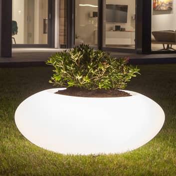 Dekolampe Storus VI LED RGBW, bepflanzbar weiß