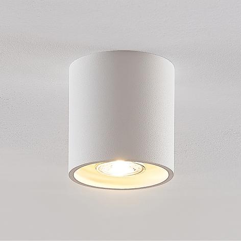 Lindby Parvin Aluminium-Downlight, rund, weiß