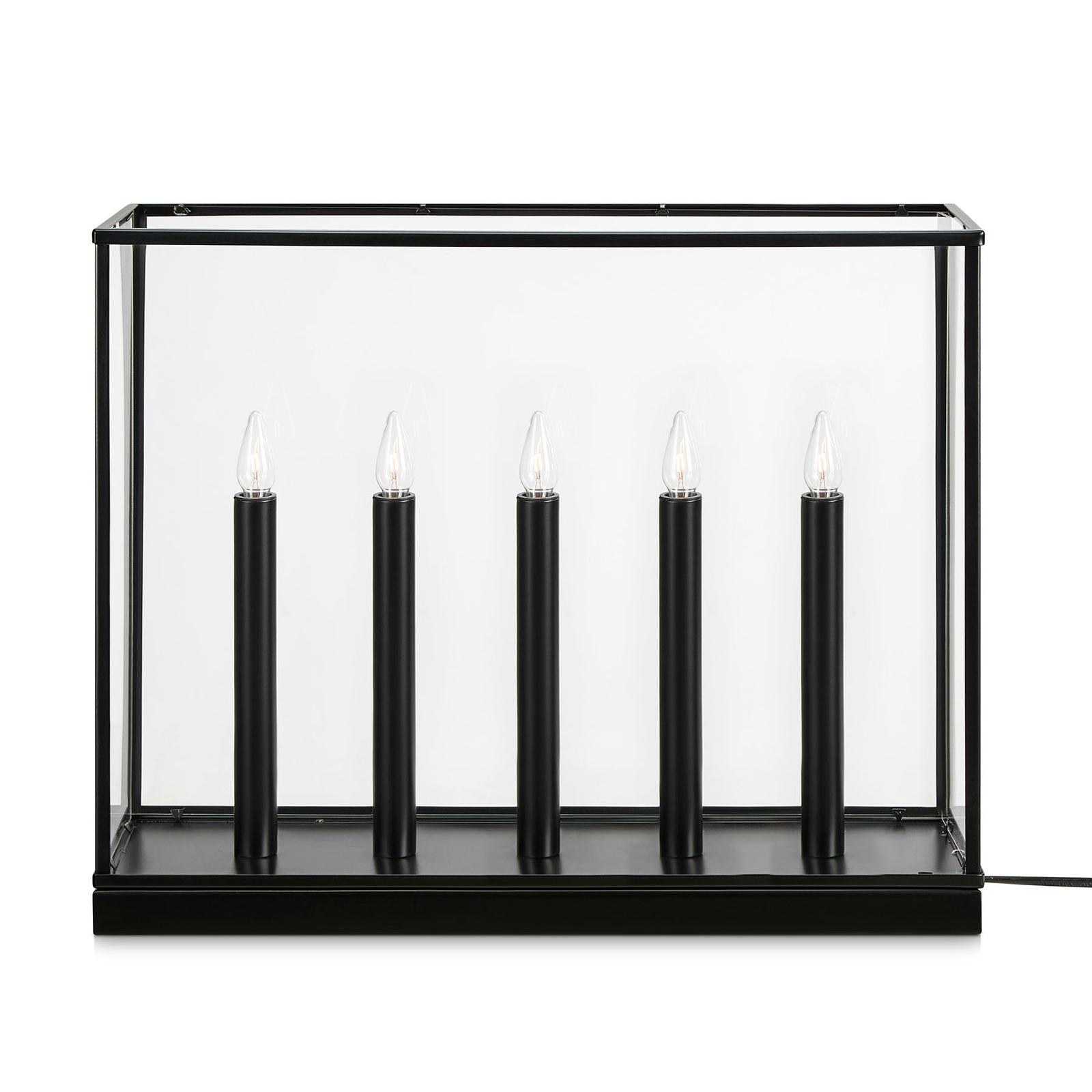 Chandelier Imagine à 5 lampes, noir