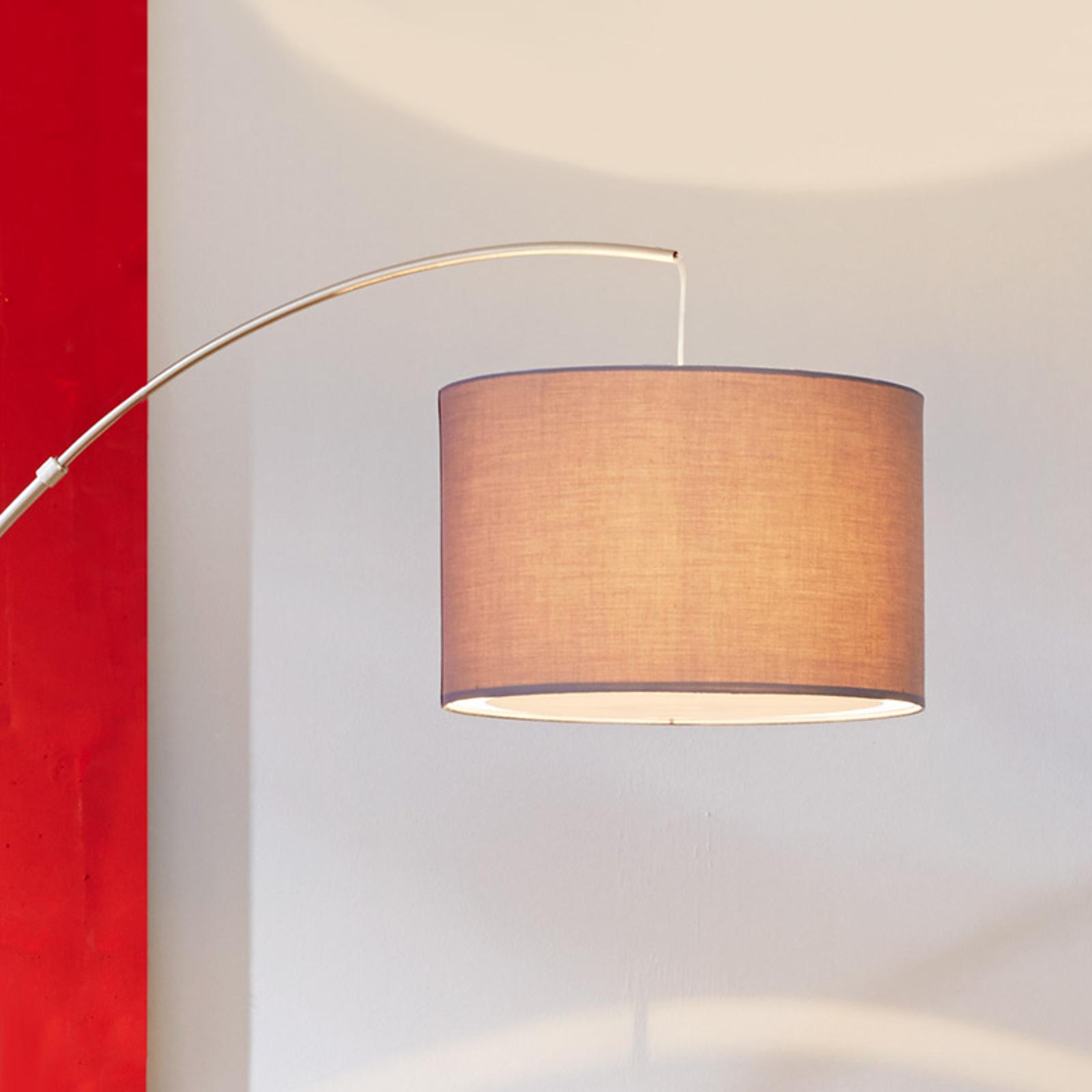 Classica lampada ad arco Clarie, grigio