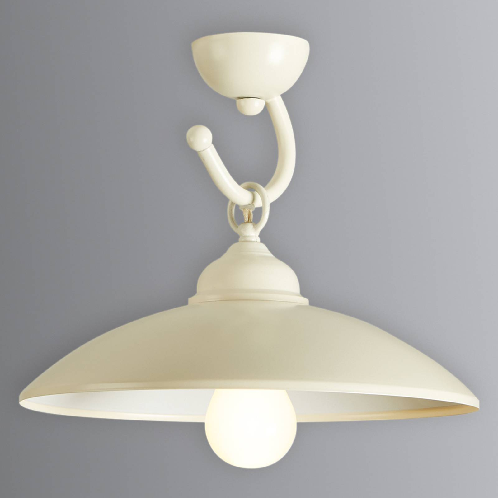 Rustieke plafondlamp Baja ivoor