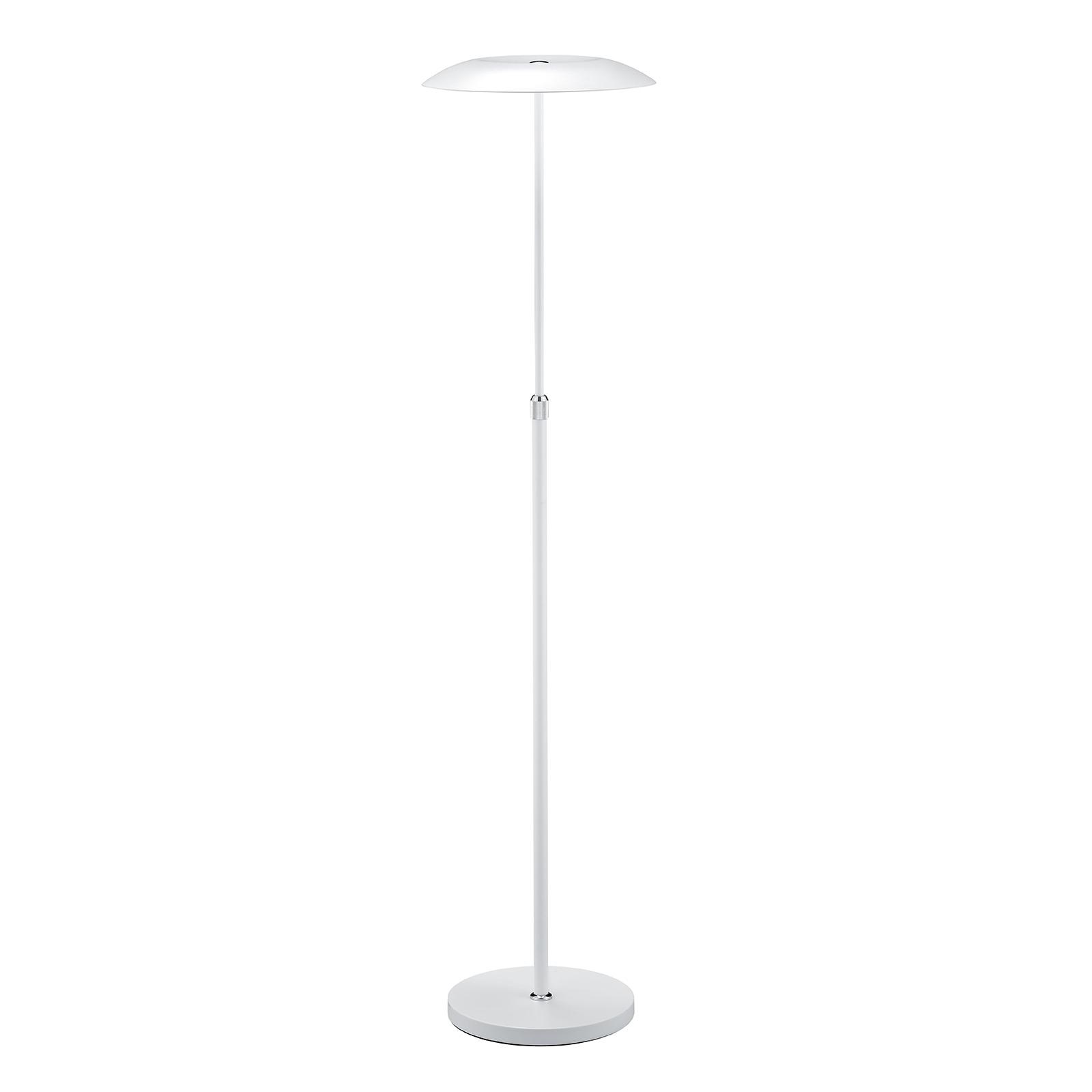B-Leuchten Curling lampa stojąca LED biała
