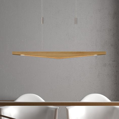 Lucande Dila LED závěsné světlo, přírodní, 88 cm