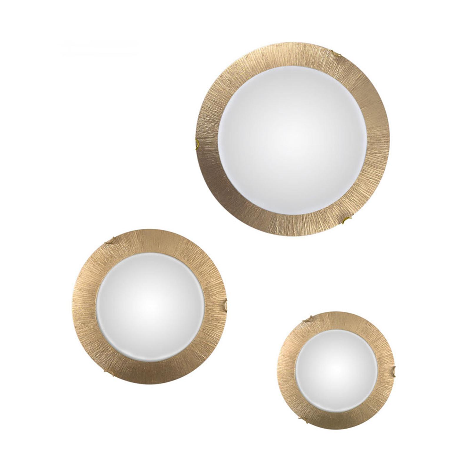 Applique LED Moon Sun, dorée, Ø 40cm