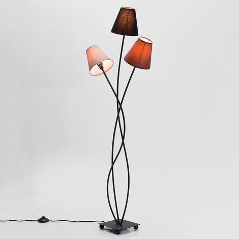 Golvlampa Flexible Mocca Tre, tre ljuskällor
