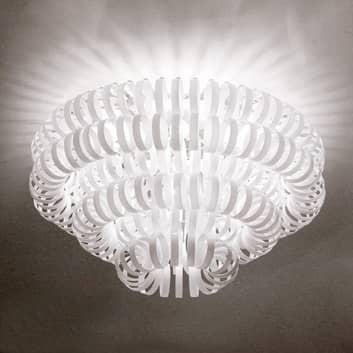 ECOS glas-loftlampe, hvid