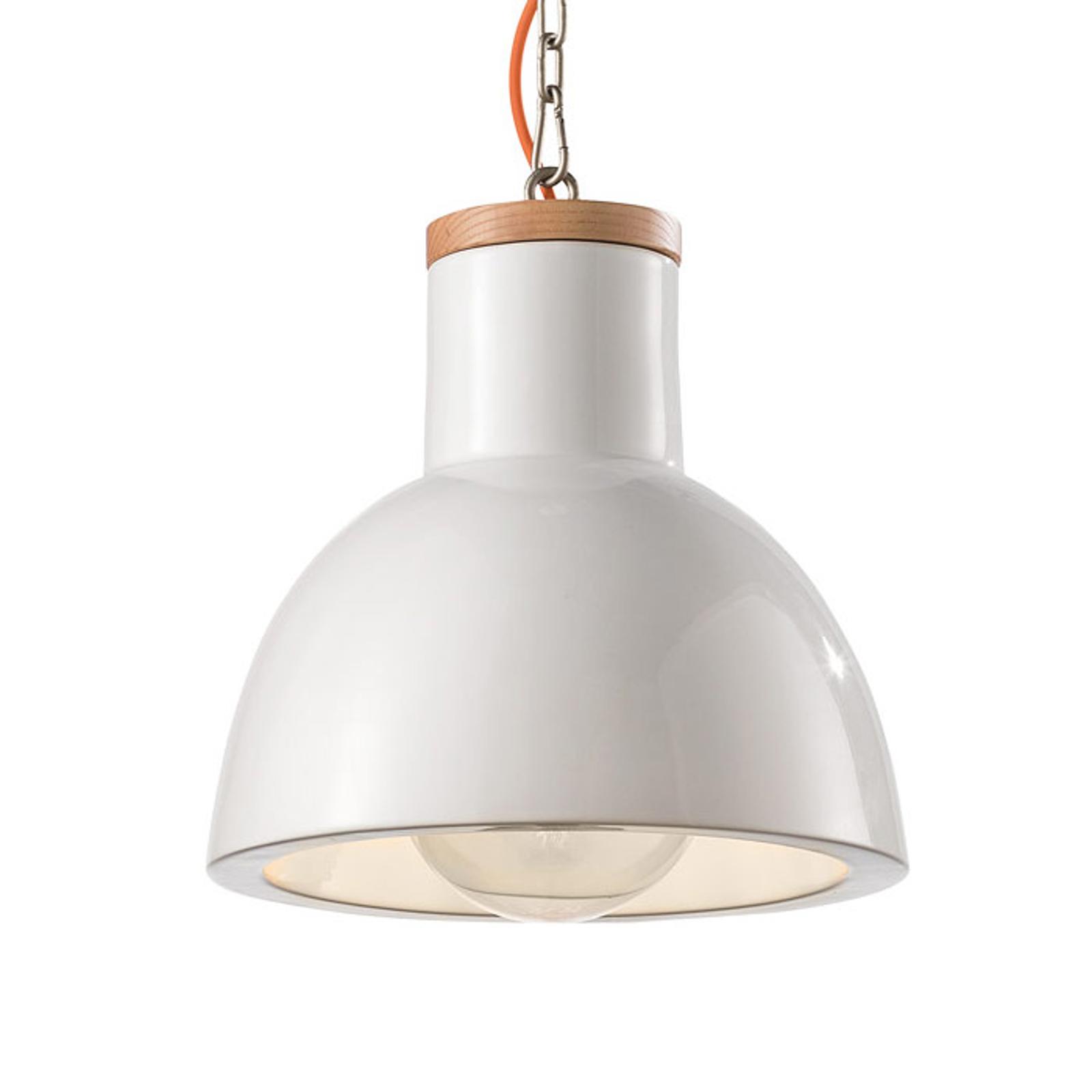 Lampa wisząca C1781, styl skandynawski, biała