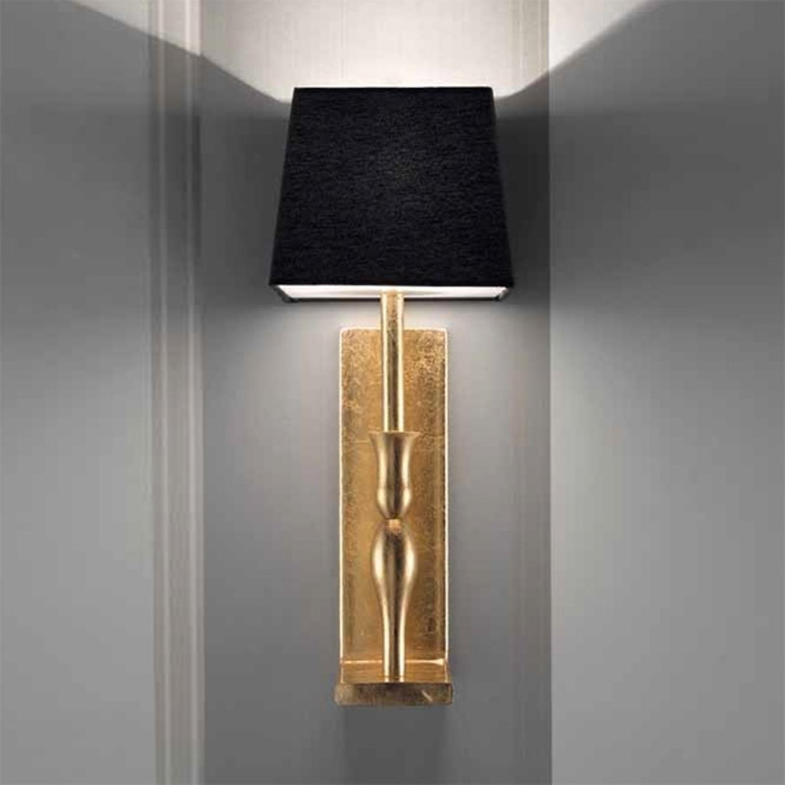 Zwart-goudkleurige wandlamp Slim