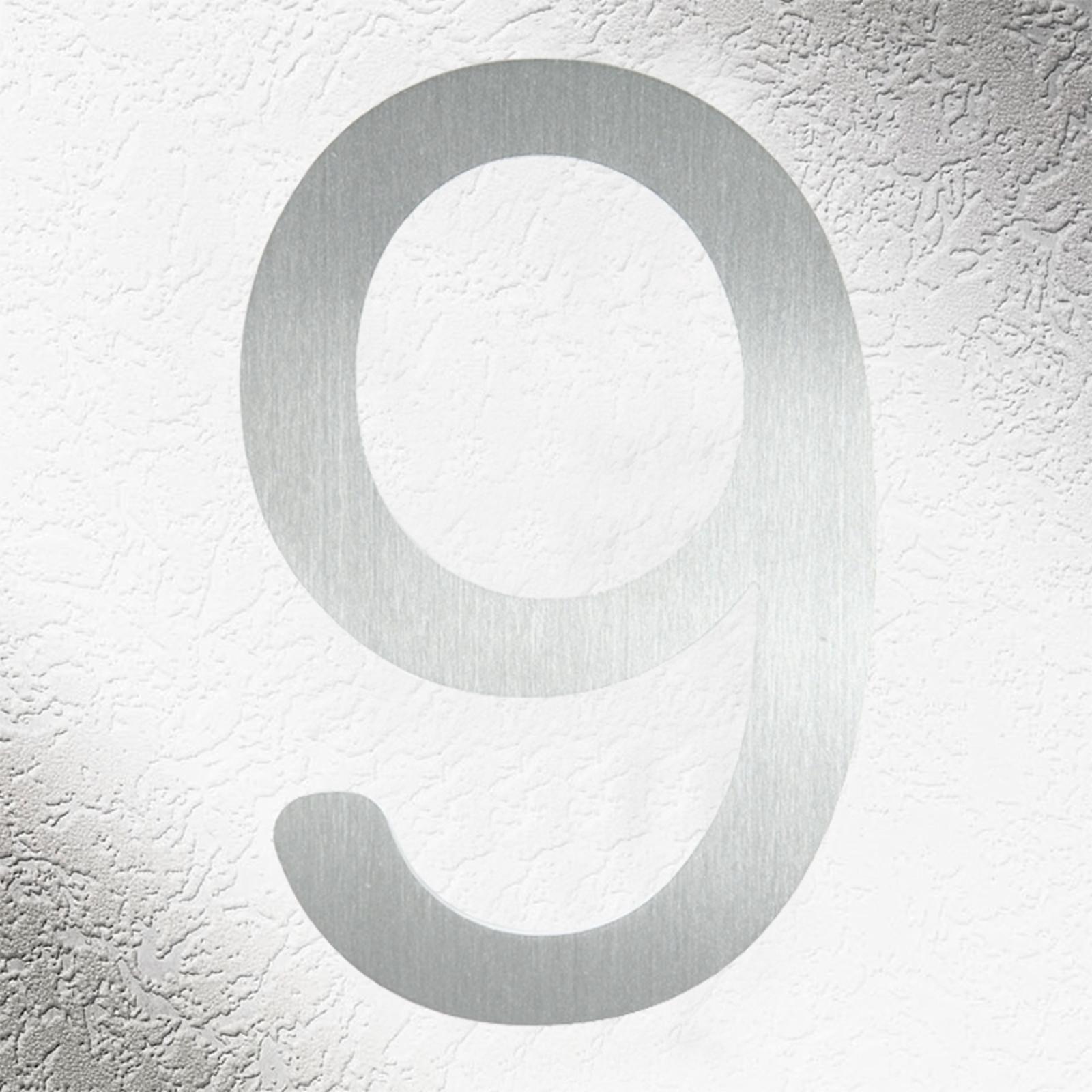 Números de casa de alta calidad acero inoxidable 9