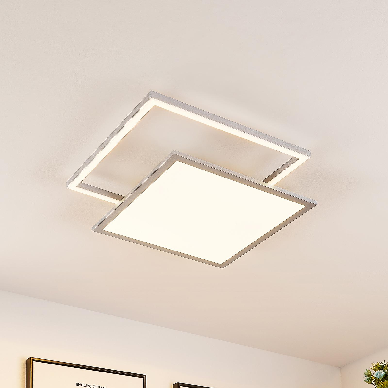 Lucande Senan LED-taklampe, kvadratisk, CCT