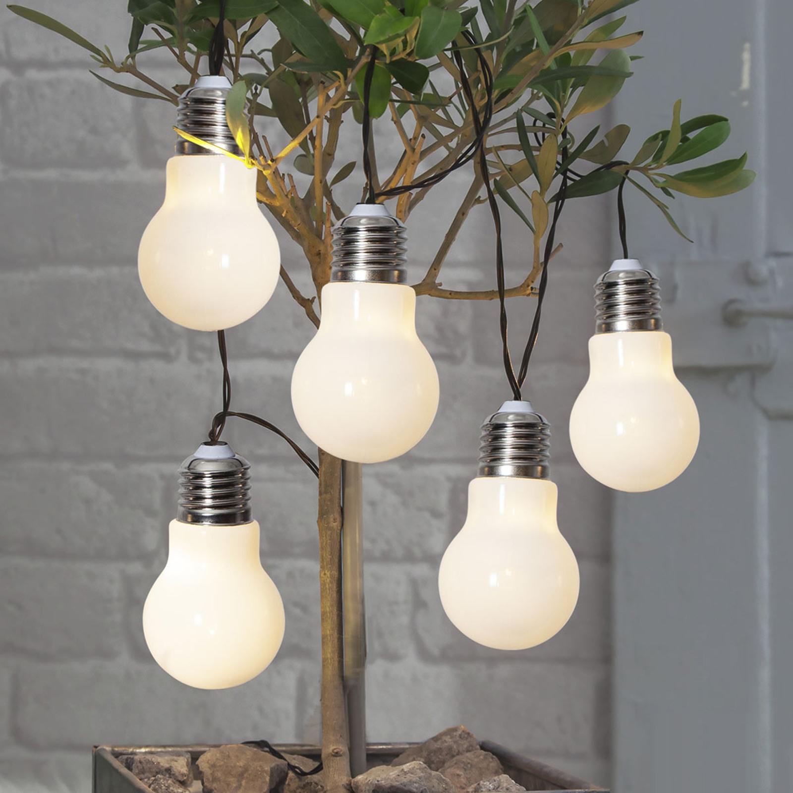 LED-Lichterkette Glow, Batterie, weiß