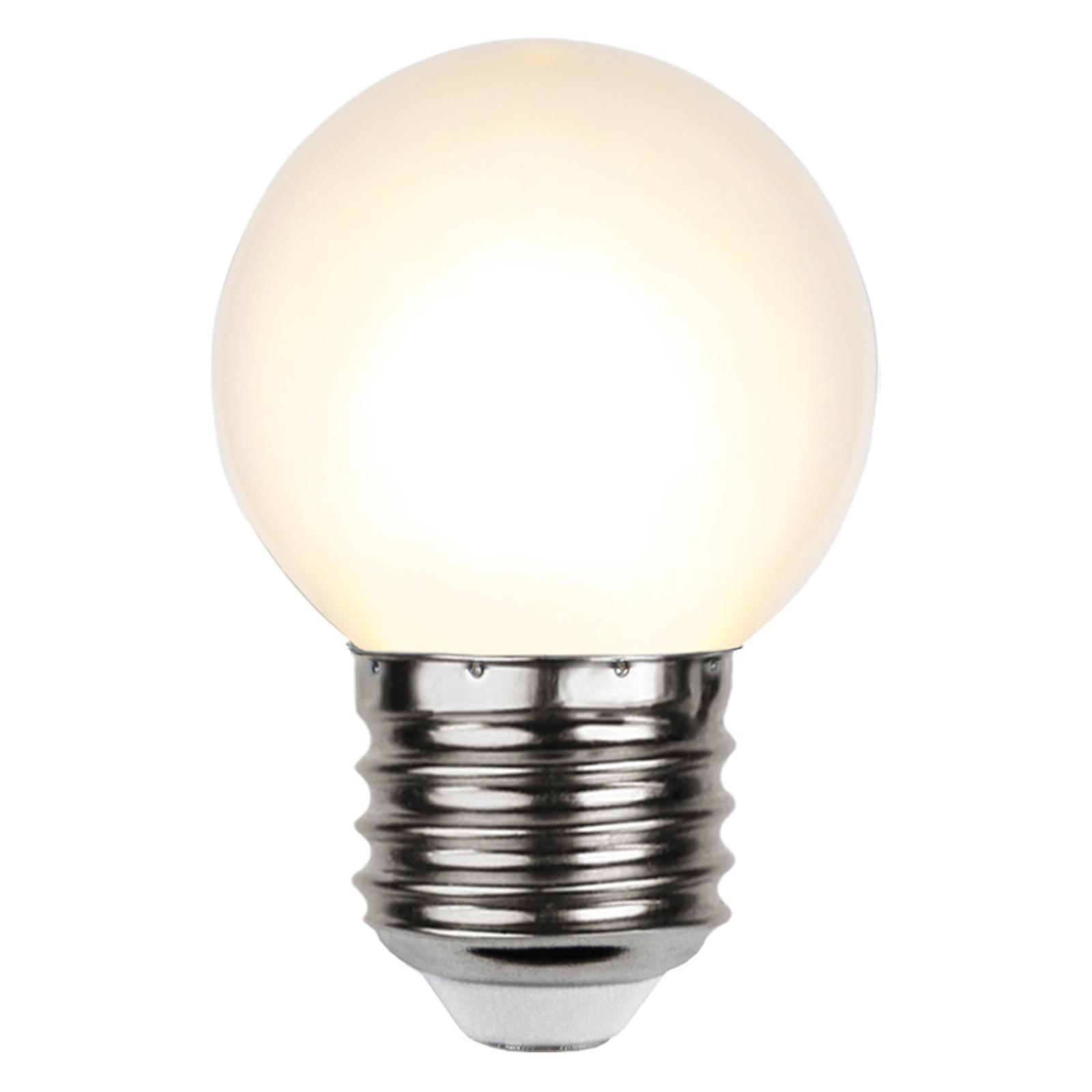 LED-Lampe E27 G45 für Lichterketten, weiß 2.700K