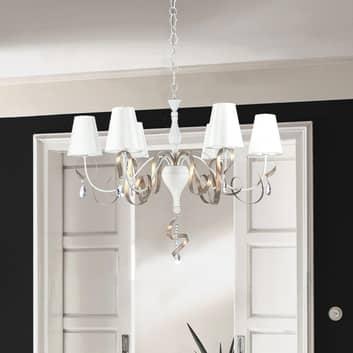 Lámpara de araña Intreccio modelada artísticamente