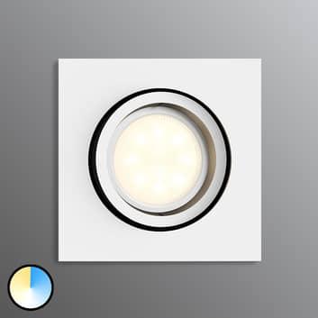 Philips Hue Milliskin LED-Einbauspot eckig, weiß