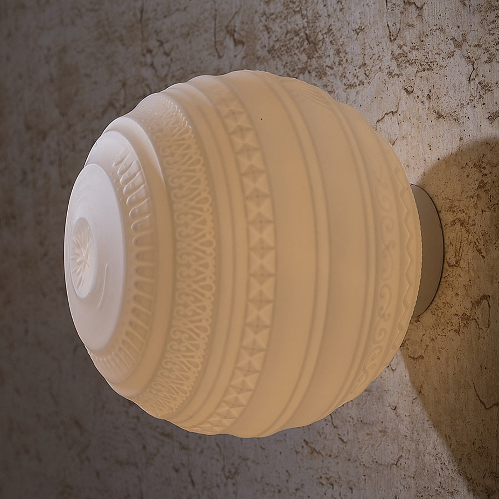 Lampa sufitowa Braille, dmuchane szkło, 25cm