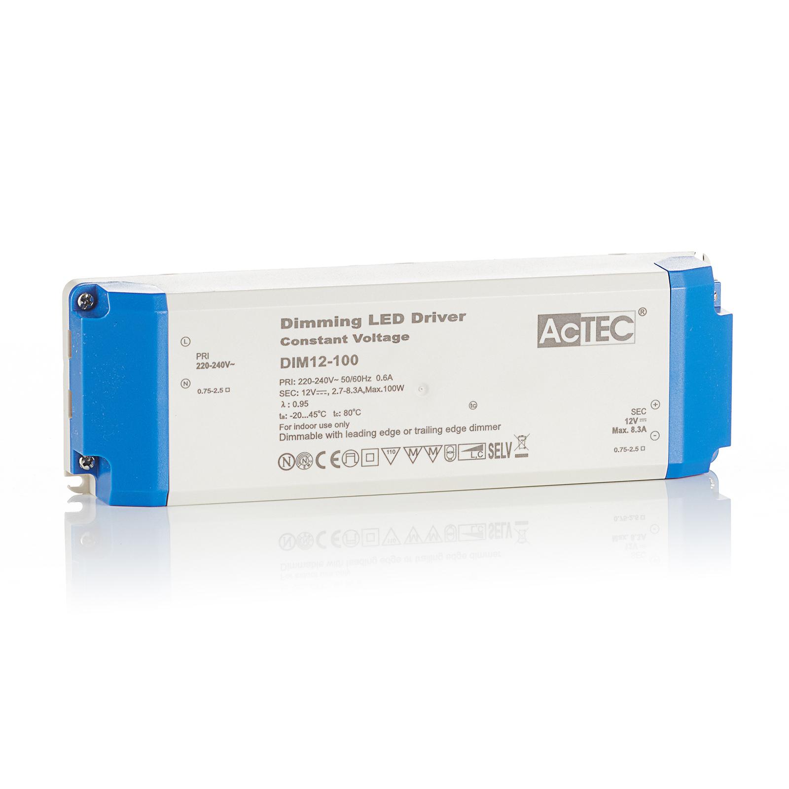 AcTEC DIM LED driver CV 12V, 100W, dimbaar